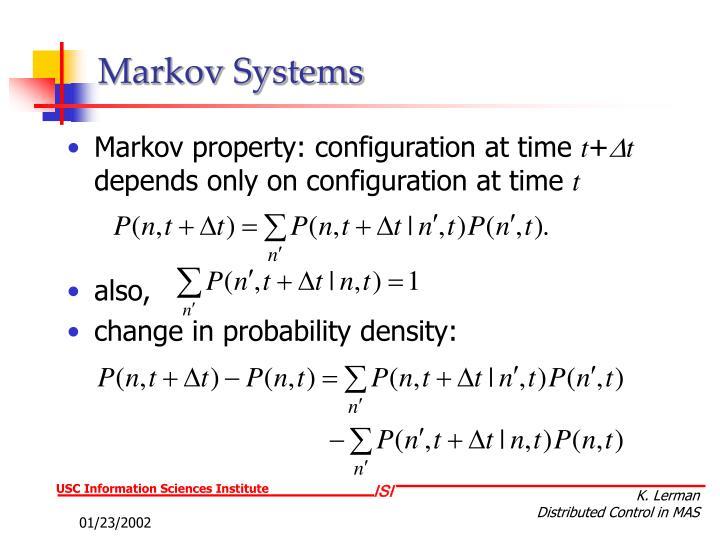 Markov Systems