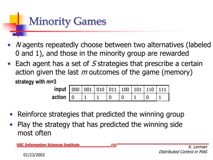 Minority Games