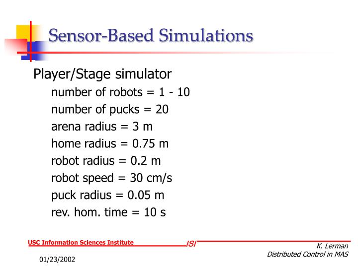 Sensor-Based Simulations