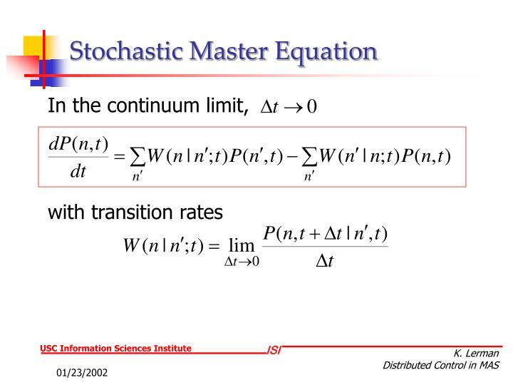 Stochastic Master Equation