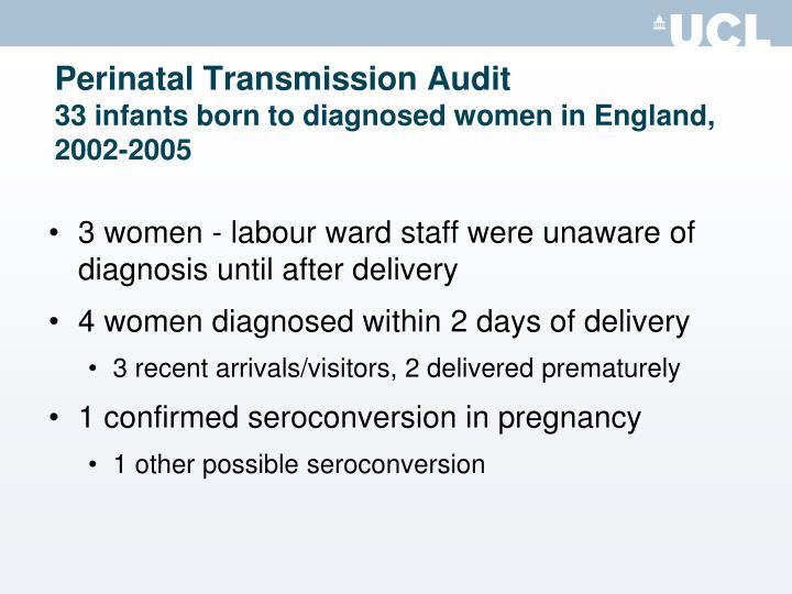 Perinatal Transmission Audit