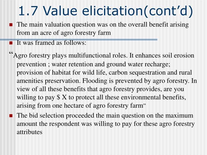 1.7 Value elicitation(cont'd)