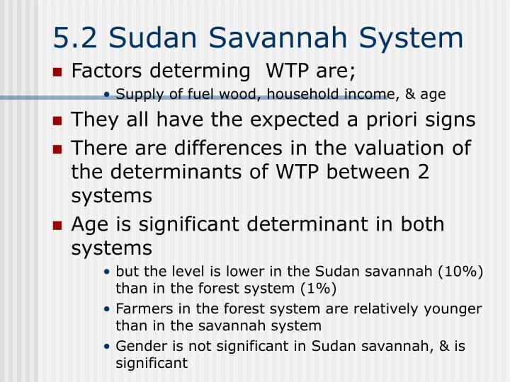 5.2 Sudan Savannah System