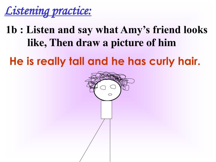 Listening practice: