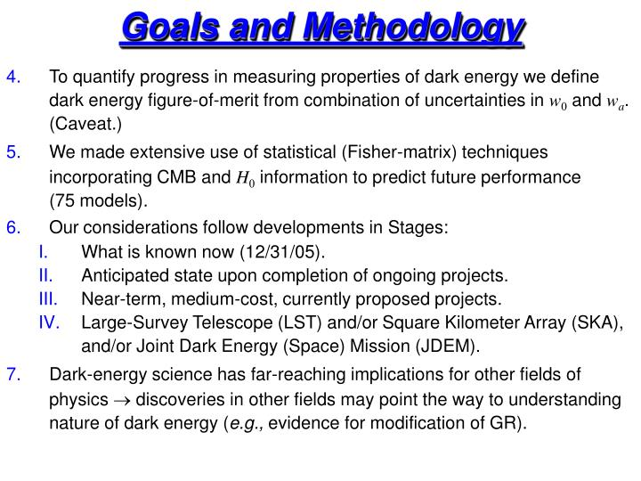 Goals and Methodology