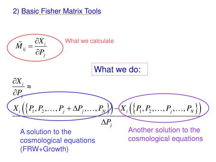 2) Basic Fisher Matrix Tools