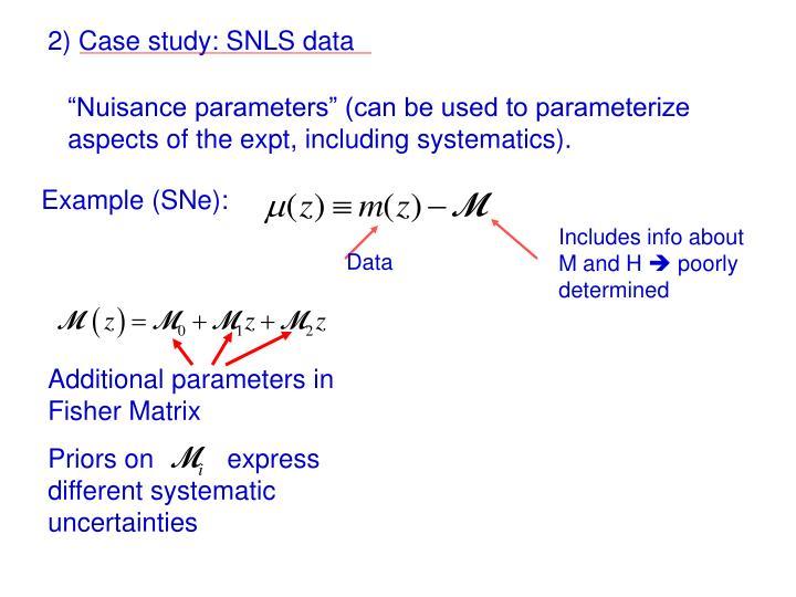 2) Case study: SNLS data
