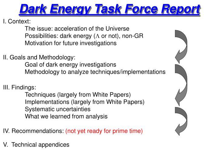Dark Energy Task Force Report