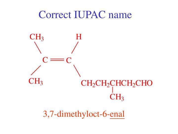 Correct IUPAC name