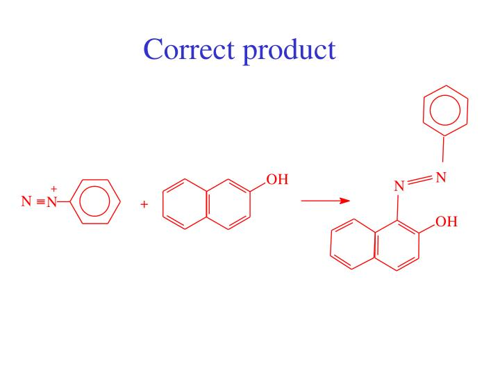 Correct product