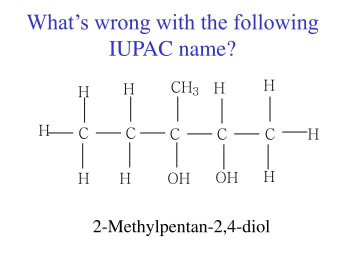 What s wrong with the following iupac name1