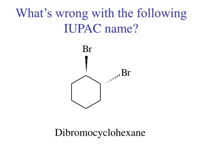 What's wrong with the following IUPAC name?
