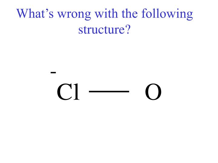 What's wrong with the following structure?
