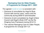 reshaping care for older people a programme for change 2011 20214