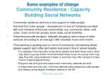 some examples of change community resilience capacity building social networks