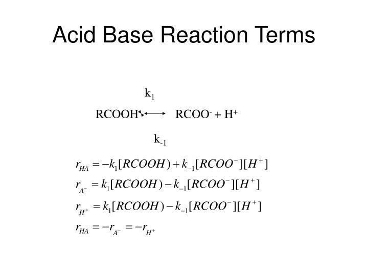 Acid Base Reaction Terms