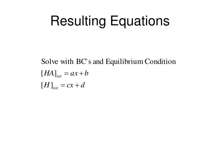 Resulting Equations