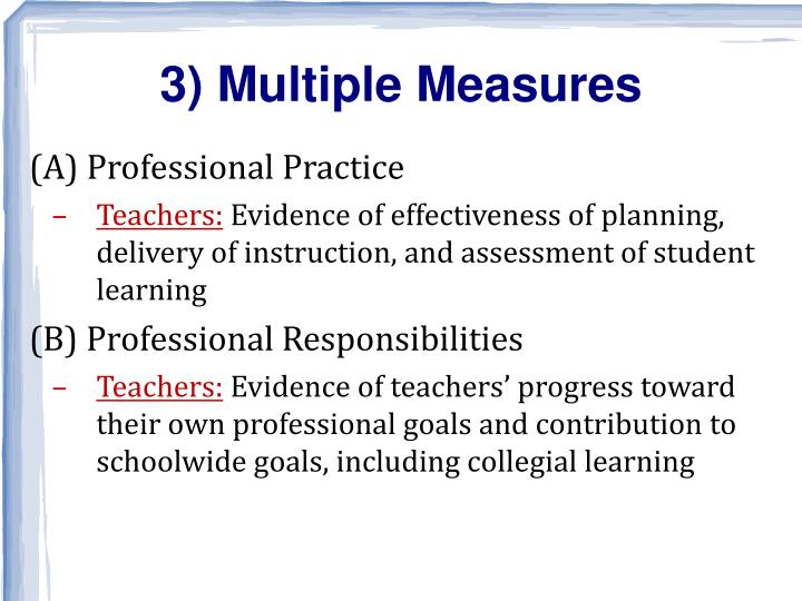 3) Multiple Measures