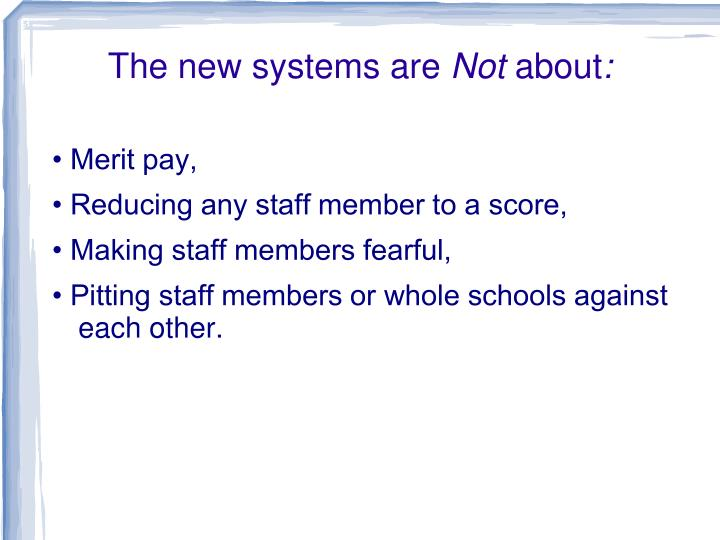 The new systems are