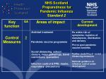 nhs scotland preparedness for pandemic influenza s tandard 2