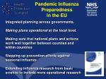 pandemic influenza preparedness in the eu