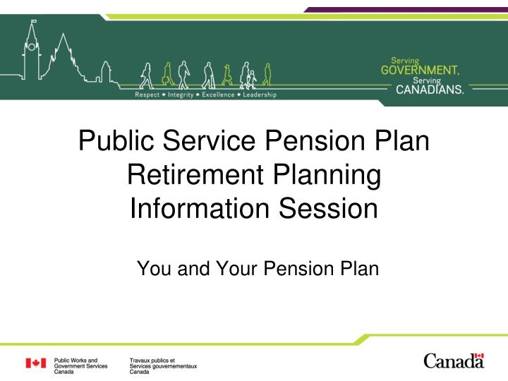 public service pension plan retirement planning information session n.