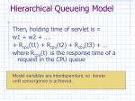 hierarchical queueing model