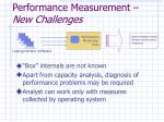 performance measurement new challenges