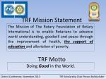 trf mission statement