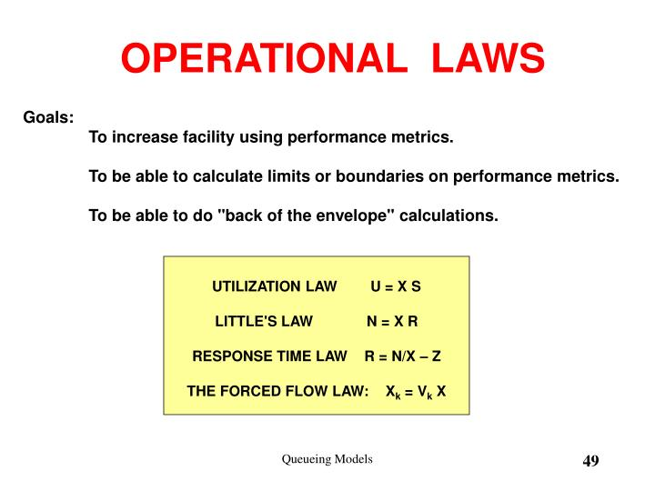 OPERATIONAL  LAWS