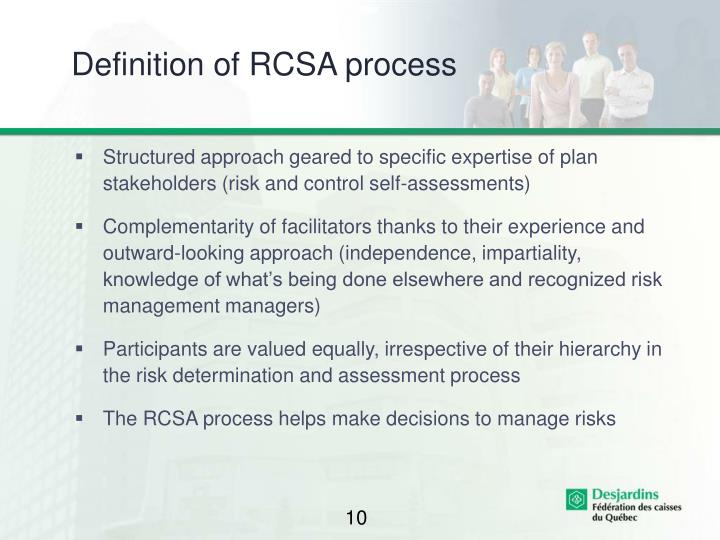 Definition of RCSA process