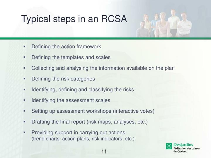 Typical steps in an RCSA