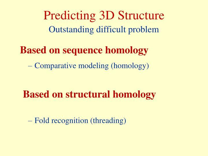 Predicting 3D Structure