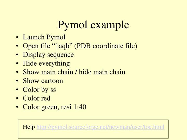 Pymol example