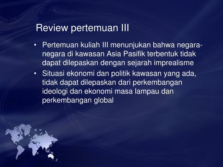 Review pertemuan III