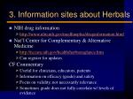 3 information sites about herbals