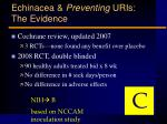 echinacea preventing uris the evidence