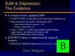 sjw depression the evidence