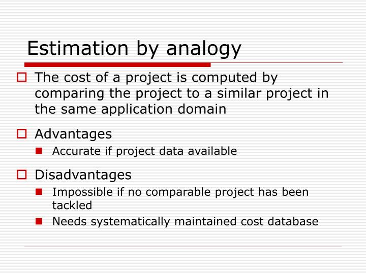 Estimation by analogy