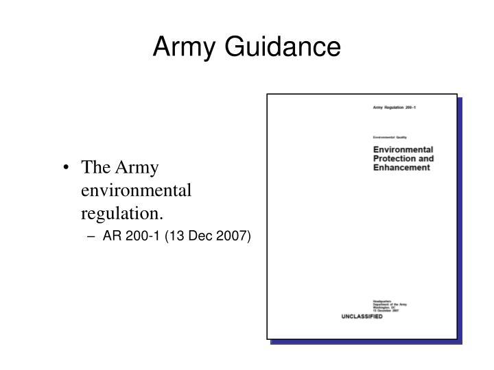 Army Guidance