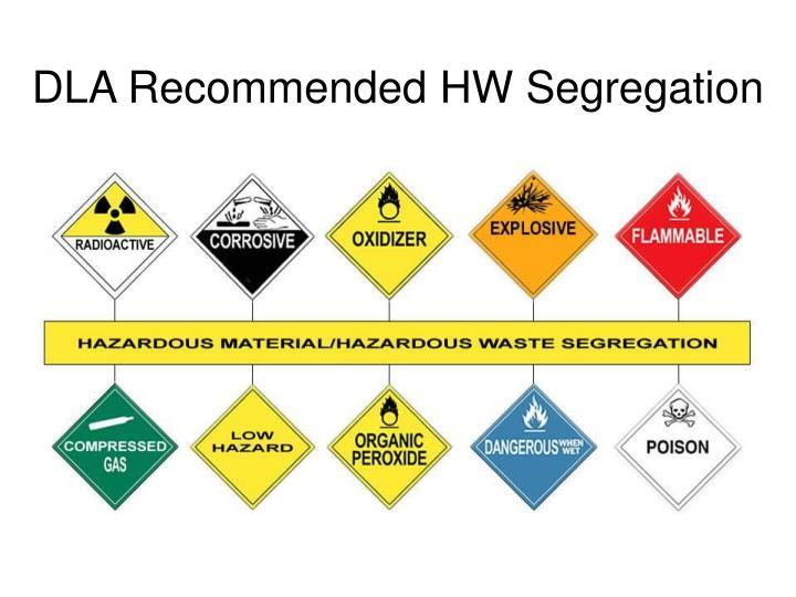 DLA Recommended HW Segregation