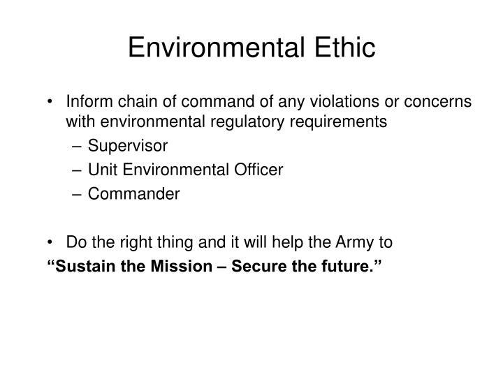 Environmental Ethic