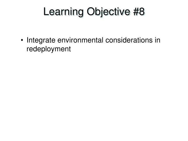 Learning Objective #8