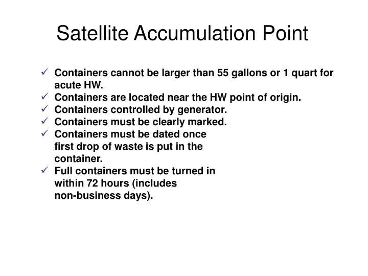 Satellite Accumulation Point
