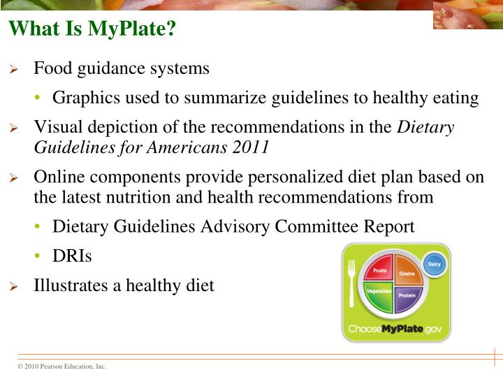 Ppt Chapter 2 Tools For Healthy Eating Powerpoint Presentation