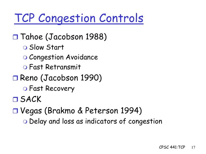 tcp congestion control Network working group m allman request for comments: 2581 nasa glenn/sterling software obsoletes: 2001 v paxson category: standards track aciri / icsi w stevens consultant april 1999 tcp congestion control status of this memo this document specifies an internet standards track protocol for the internet community.