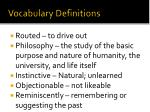vocabulary definitions