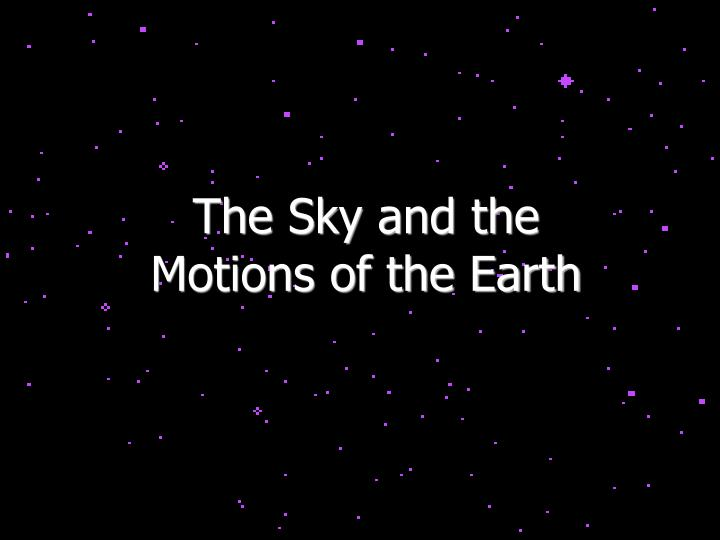 The Sky and the
