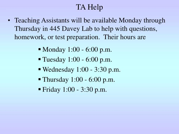 TA Help