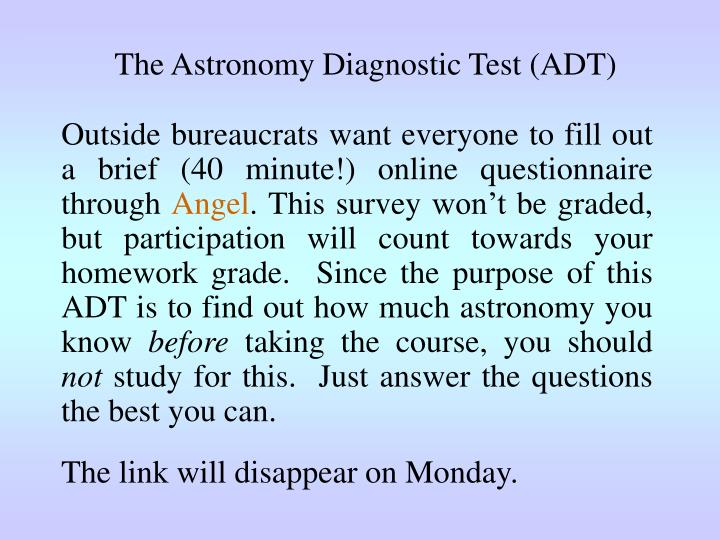 The Astronomy Diagnostic Test (ADT)